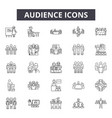 audience line icons for web and mobile design vector image vector image
