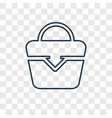 beach bag concept linear icon isolated on vector image