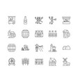 beer line icons signs set outline vector image