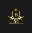 boutique luxury logo design template inspiration vector image vector image