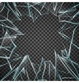 Broken Glass Transparent Frame vector image vector image