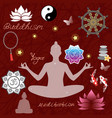 buddhism religion design with holy symbols vector image vector image