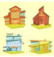 Building Cartoon Set vector image vector image