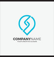 business logo modern point initial s vector image
