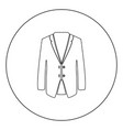 business suit black icon in circle isolated vector image vector image