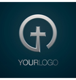 Christian church silver logo vector image