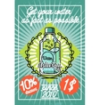 Color vintage Water delivery poster vector image vector image