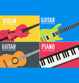 colorful flat classical musical instruments vector image