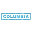 Columbia Rubber Stamp vector image vector image