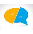 conceptual speech bubble communication concept vector image vector image