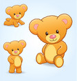 cute cuddly teddy bears vector image vector image