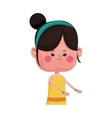 cute girl cartoon icon vector image vector image
