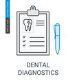 dental diagnostics icon vector image