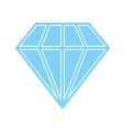 diamond icon blue vector image vector image