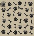 Dog trail and bone pattern seamless