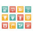 ecology power and energy icons vector image vector image