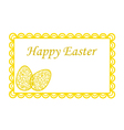 Elegant Easter eggs on greeting card vector image vector image