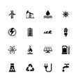 energy - flat icons vector image vector image