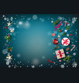 eve blue winter background vector image vector image