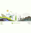 evolution of renewable energy concept of greening vector image vector image