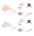 examination of the tooth instillation of the eye vector image vector image