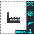 factory icon flat vector image vector image