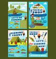 fishing season fisher camping tackles equipment vector image