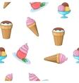 Frozen ice cream pattern cartoon style vector image