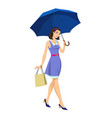 girl under an umbrella vector image