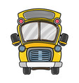 grated school bus transportation to education vector image vector image