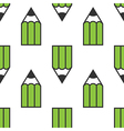 Green pencils seamless pattern vector image