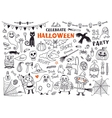 halloween design element pack vector image