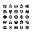 hexagon geometric icon ornament vector image vector image