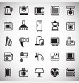 home appliance icons set on white background for vector image