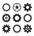 icons gear wheel vector image vector image