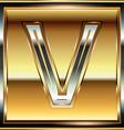 Ingot Font Letter V vector image