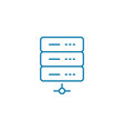 internet server linear icon concept internet vector image