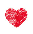 isoltted distress grunge heart with wooden vector image vector image