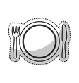 kitchen dish and cutlery isolated icon vector image