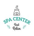 Lavender salt in bowl bath beauty treatment spa vector image vector image