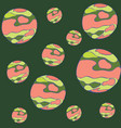 mars pattern cartoon of mars vector image vector image