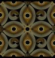 modern gold textured 3d greek seamless pattern vector image vector image