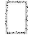 musical theme frame vector image vector image
