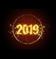 new year 2019 sparkles background vector image vector image