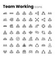office team working icon set vector image