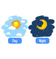 opposite adjectives words with day and night vector image vector image