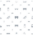 outdoors icons pattern seamless white background vector image vector image