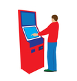 Person and payment terminal vector image vector image