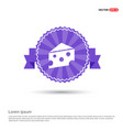 piece of cheese icon - purple ribbon banner vector image