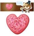 pink sprinkles heart cookie vector image vector image